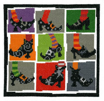 Halloween Shoes - Cross Stitch Pattern