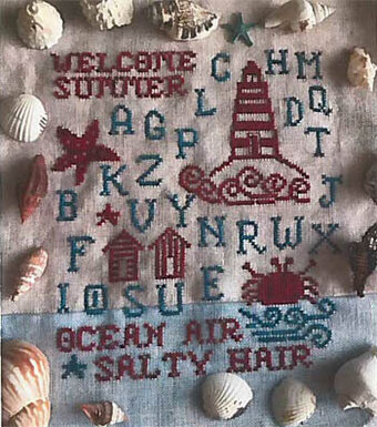 Welcome Summer Samlper - Cross Stitch Pattern