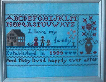 I Love My Family - Cross Stitch Pattern