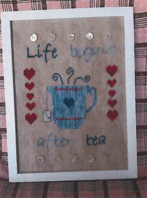 I Love Tea - Cross Stitch Pattern