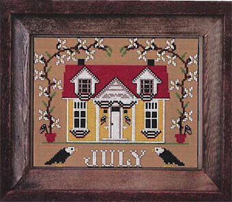 July Cottage - I'll be Home Mystery - Cross Stitch Pattern