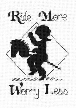 Ride More - Cross Stitch Pattern