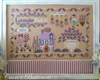 Lavender Farm - Cross Stitch Pattern