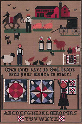 From the Simple Life of Amish - Cross Stitch Pattern