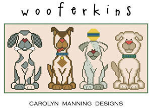 Wooferkins - Cross Stitch Pattern