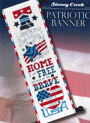 Patriotic Banner- Cross Stitch Pattern