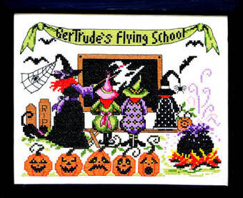 Gertrude's Flying School - Cross Stitch Pattern