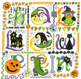 Tic Tac Halloween - Cross Stitch Pattern
