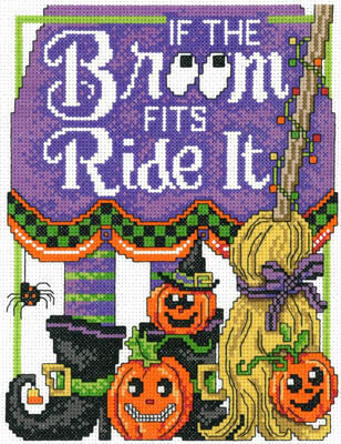Ride the Broom - Cross Stitch Pattern