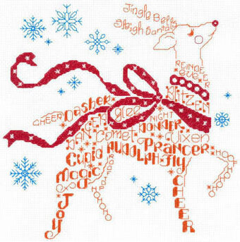 Let's Find Rudolph - Cross Stitch Pattern