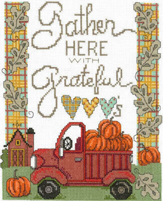 Gather With Grateful Hearts - Cross Stitch Pattern