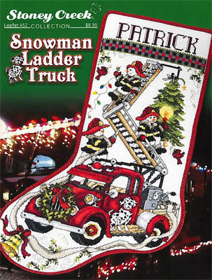 Snowman Ladder Truck - Cross Stitch Pattern