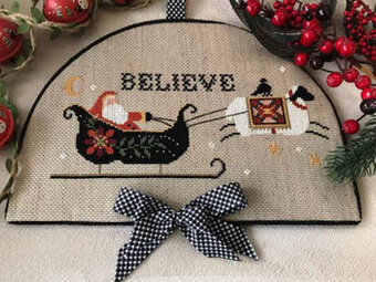 Twin Peak Primitives Believe in Santa - Cross Stitch Pattern