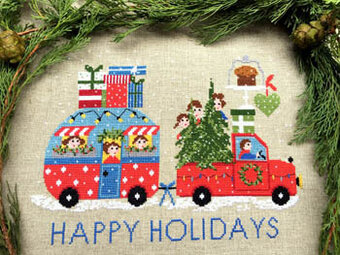 Happy Holidays - Cross Stitch Pattern