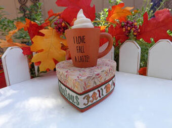 I Love Fall a Latte - Cross Stitch Kit