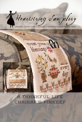 Thankful Life Chairarm Pinkeep - Cross Stitch Pattern