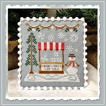 Snowflake Stand - Snow Village 3 - Cross Stitch Pattern