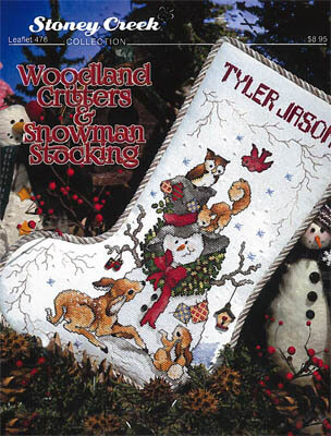 Woodland Critters & Snowman Stocking