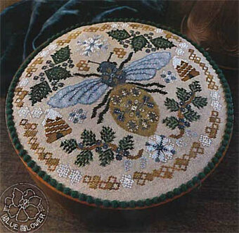 Sleeping Bee - Cross Stitch Pattern