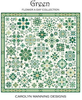 Green - Flower a Day Collection - Cross Stitch Pattern