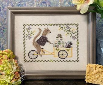 Summer Squirrel - Cross Stitch Pattern