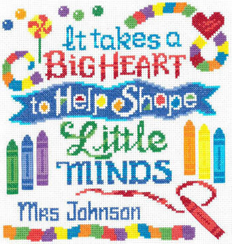 Teachers Have a Big Heart - Cross Stitch Pattern