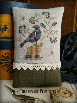Lucky Crow - Cross Stitch Pattern