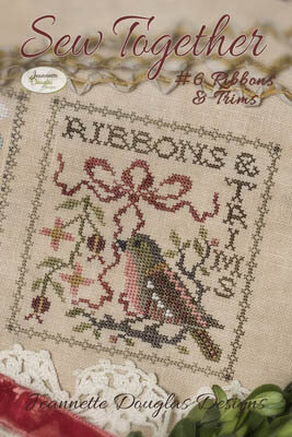 Sew Together #6 Ribbons & Trims - Cross Stitch Pattern
