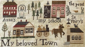 For the Parlor VII - Town - Cross Stitch Pattern