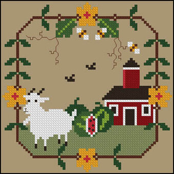 July Bliss - Cross Stitch Pattern