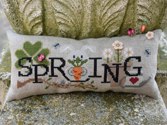 When I Think of Spring (with buttons) - Cross Stitch Pattern