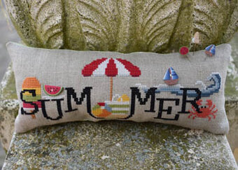 When I Think of Summer (with buttons) - Cross Stitch Pattern