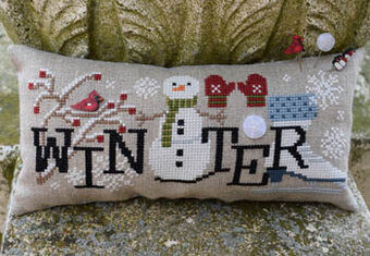 When I Think of Winter (with buttons) - Cross Stitch Pattern