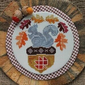 Squirrel and His Nut - Cross Stitch Pattern