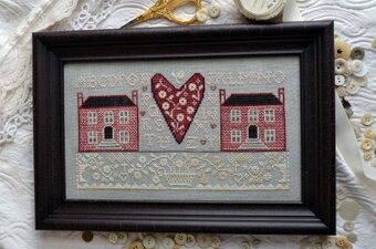 Little Pink Houses - Cross Stitch Pattern