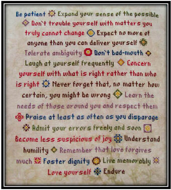 How to Live - Cross Stitch Pattern