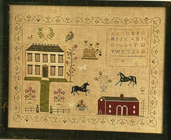 Stables at Hollyberry Farm Sampler - Cross Stitch Pattern