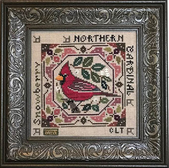 Birdie & Berries - Northern Cardinal - Cross Stitch Pattern