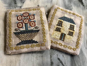 Adam's House Pin Keeps & Fobs - Cross Stitch Pattern