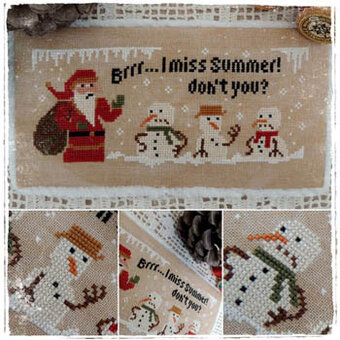 Angry Snowman - Cross Stitch Pattern