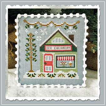 Ice Creamery - Snow Village 9 - Cross Stitch Pattern