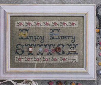 Enjoy Every Stitch (with buttons) - Cross Stitch Pattern