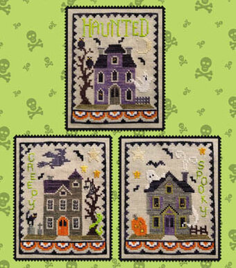 Haunted House Trio - Cross Stitch Pattern