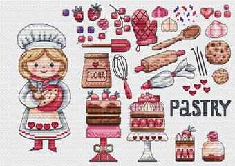 Pastry Food Collection - Cross Stitch Pattern