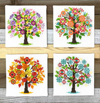 Seasonal Trees - Cross Stitch Pattern