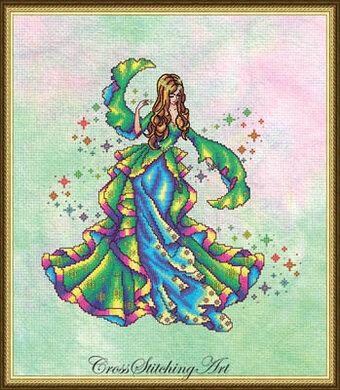 Iris, the Rainbow Maiden - Cross Stitch Pattern