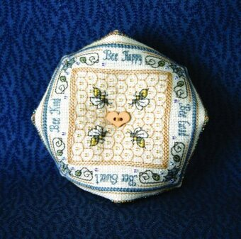 Crystal Honey Biscornu Pincushion - Cross Stitch Pattern