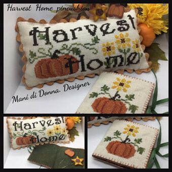 Harvest Home Pincushion - Cross Stitch Pattern