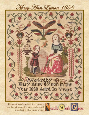 Mary Anne Eynon 1858 - Cross Stitch Pattern