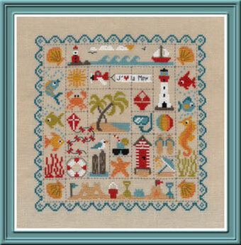 Patchwork De La Plage (Beach) - Cross Stitch Pattern